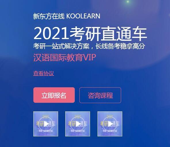 【新东方在线】2021考研汉语国际教育硕士VIP(直通车)