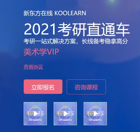 【新东方在线】2021考研美术学VIP(直通车)