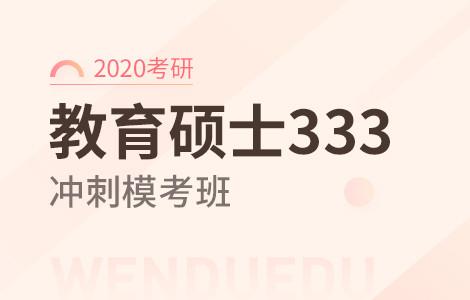 【文都网校】2020考研(教育硕士333)冲刺模考班